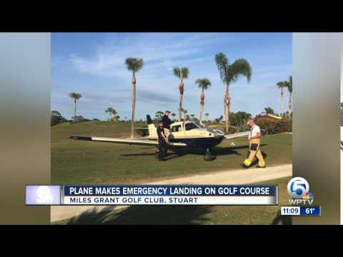 Small plane makes emergency landing on golf course in Stuart, Florida