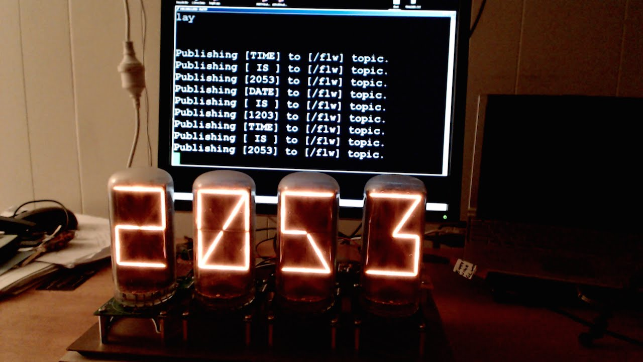 Wifi Nixie Display with Espduino MQTT