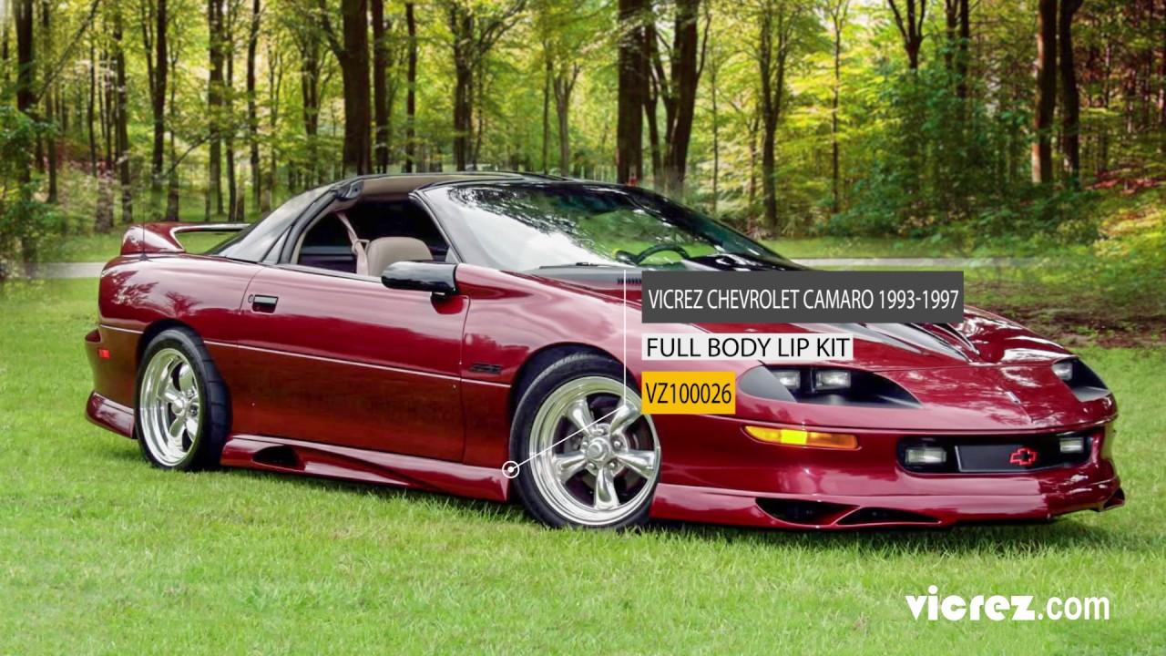 Vicrez Chevrolet Camaro 1993 1997 Type J Style Polyurethane Body Kit