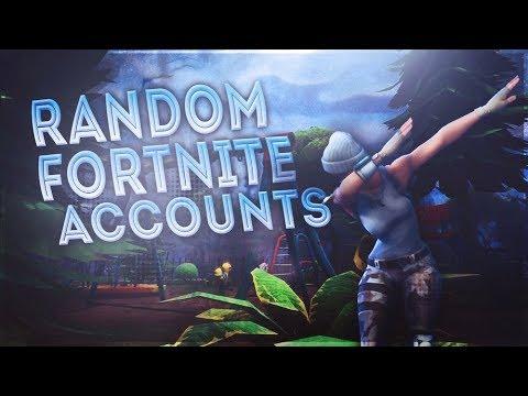 random fortnite account