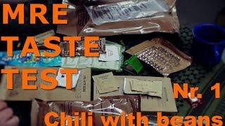 MRE Taste Test | Menü Nr. 1 - Chili with beans / Chili mit Bohnen | US MRE | Geschmackstest