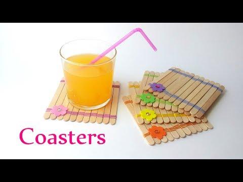 DIY crafts: COASTERS using ice-cream sticks - Innova Crafts
