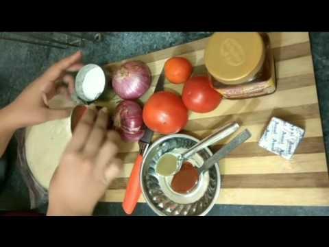 Homemade Onion Tomato Pizza Recipe