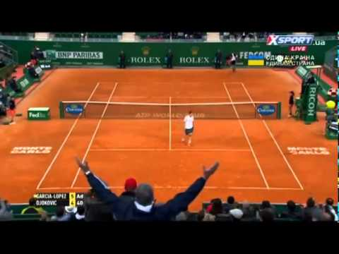 Amazing Point  Novak Djokovic vs  Guillermo Garcia Lopez Monte Carlo 2014