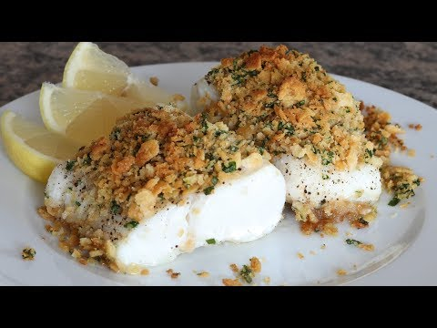 Oven Baked Cod With Ritz Cracker Topping With Butter, Lemon & Parsley
