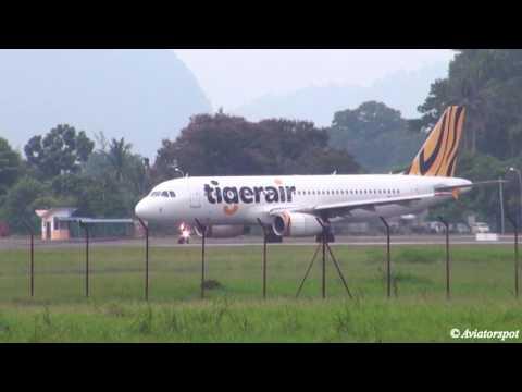 Compilation - Tigerair A320, Firefly ATR 72-500, Malindo ATR72-600 Ipoh Sultan Azlan Shah Airport
