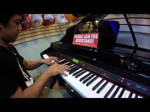 Filipino Piano Instructor playing my request song!