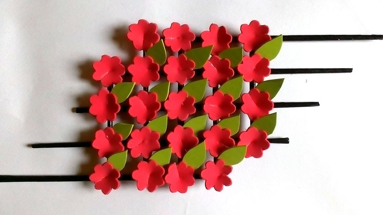 Color Paper Wall Hanging Wall Hanging Craft Ideas Foam Sheet