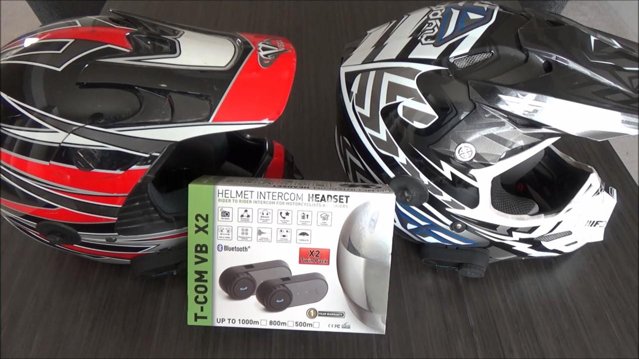 Review: T-Com VB X2 Helmet Intercom - YouTube