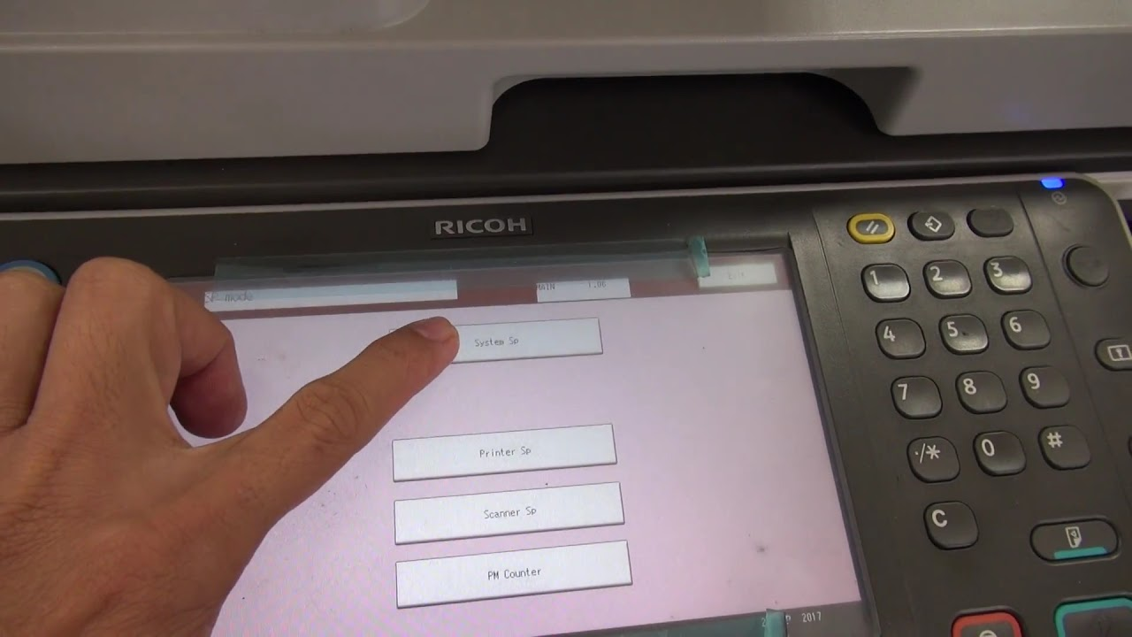 reset SC555-00 error Ricoh Aficio MP 6002sp - YouTube