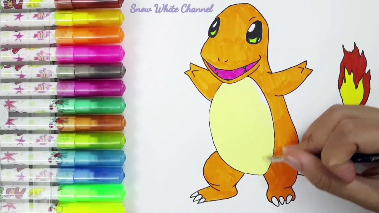 Hướng dẫn vẽ Pokemon đơn giản – Vẽ Charmander – How to draw Charmander