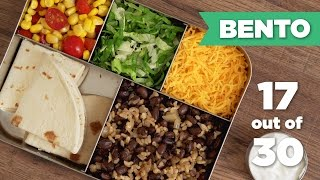Bento Box Healthy Lunch 17/30 (Vegetarian– SPECIAL TACO THEME!) - Mind Over Munch