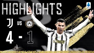 Juventus 4 1 Udinese Ronaldo Chiesa and Dybala Score In Big Win Serie A Highlights