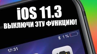 ВЫКЛЮЧИ ЭТУ ФУНКЦИЮ В iOS 11.3!