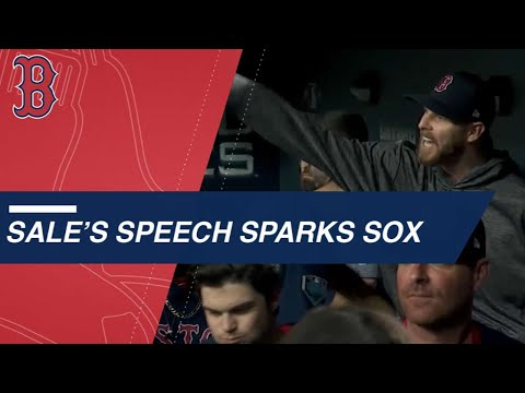 Chris Sale's speech sparks the Red Sox comeback