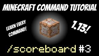 Scoreboard Total Kill Count in Sidebar | Minecraft 1.13 | criteria | Kill Counter Tutorial