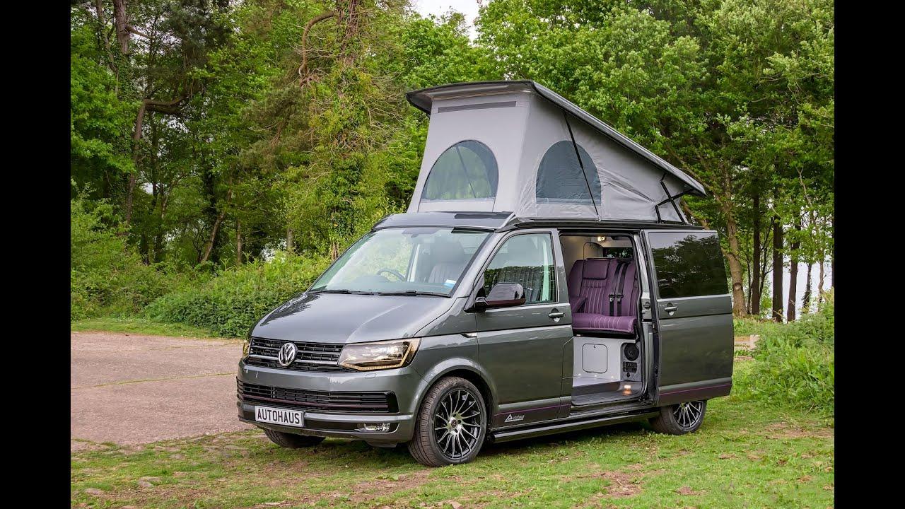 vw t6 campervan indium grey purple leather autohaus 39 ashton 39 youtube. Black Bedroom Furniture Sets. Home Design Ideas