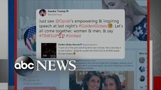 Ivanka Trump's tweet on Oprah sparks backlash