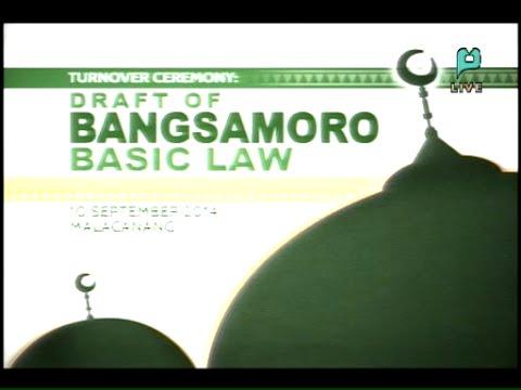 Turnover of Bangsamoro Basic Law to PHL Congress - PTV Coverage [09/10/14]