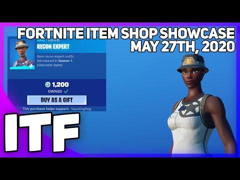 Fortnite Item Shop *RAREST SKIN* RECON EXPERT IS BACK! [May 27th, 2020] (Fortnite Battle Royale)
