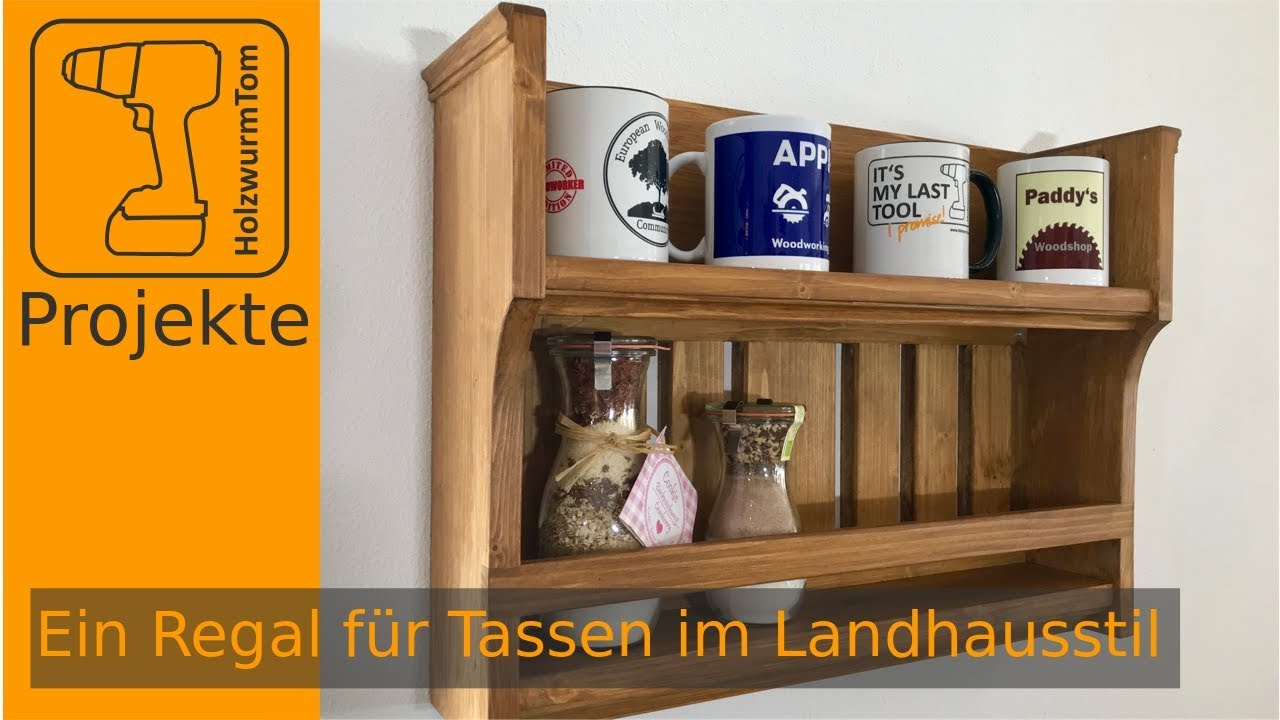 holzverbindungen herstellen sch nes wandregal im landhausstil selbst bauen youtube. Black Bedroom Furniture Sets. Home Design Ideas