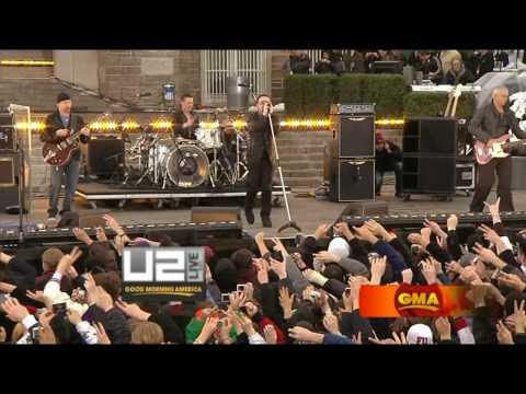 U2 - Magnificent Live Fordham University [HD - High Quality] Good Morning America