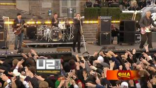 U2 - Magnificent Live Fordham University [HD - High Quality] Good Morning America