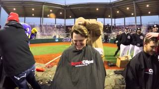 CTX baseball shaves heads to fight cancer