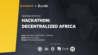 Opening Ceremony Decentralized Africa Hackathon
