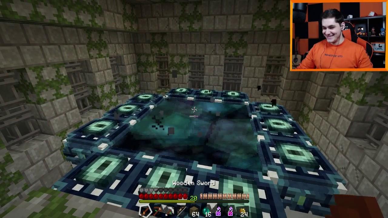 "Minecraft #281 –  ""Skórzany set i drewniany miecz vs smok kresu?!"""