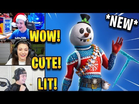 Streamers React to *NEW* Snowman Skin Slushy Soldier & Icicle Axe! *EPIC* | Fortnite Highlights