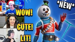 "Streamers Réagir à la peau de bonhomme de neige ""Slushy Soldier"" - Icicle Axe! 'EPIC' Faits saillants de Fortnite"