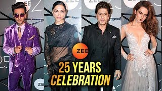 Ranveer Singh, Deepika Padukone, Kangana Ranaut, SRK Celebrating 25 years of ZEE