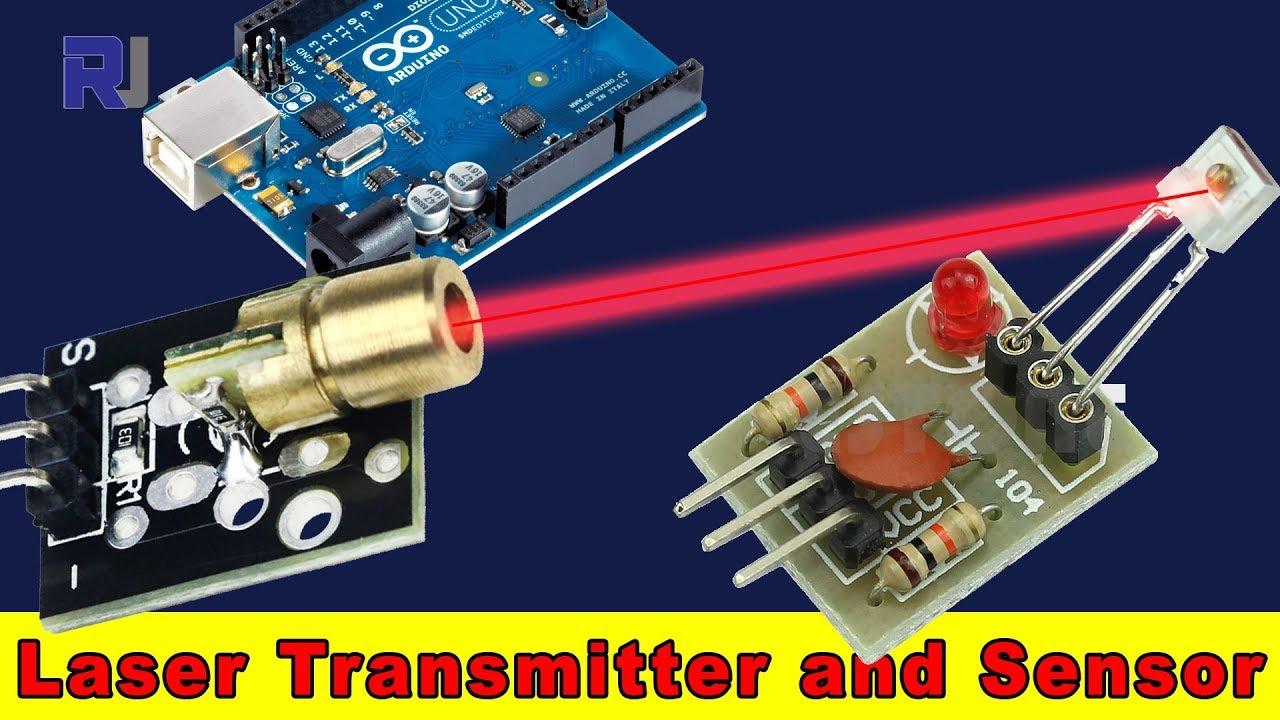 Laser Transmitter and Laser sensor for Arduino