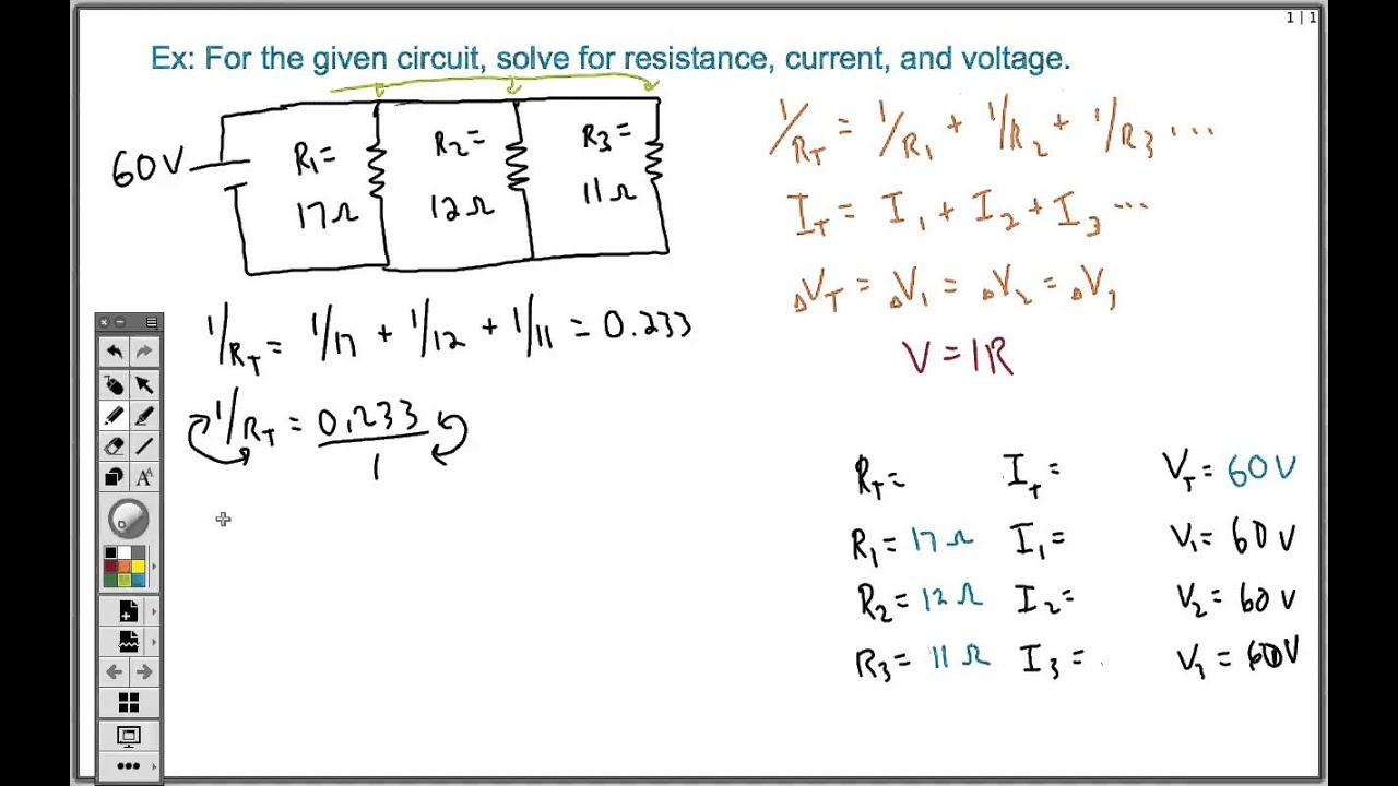 how to solve a parallel circuit easy youtube rh youtube com Series Parallel Circuit Problems Series Parallel Circuit Tutorial