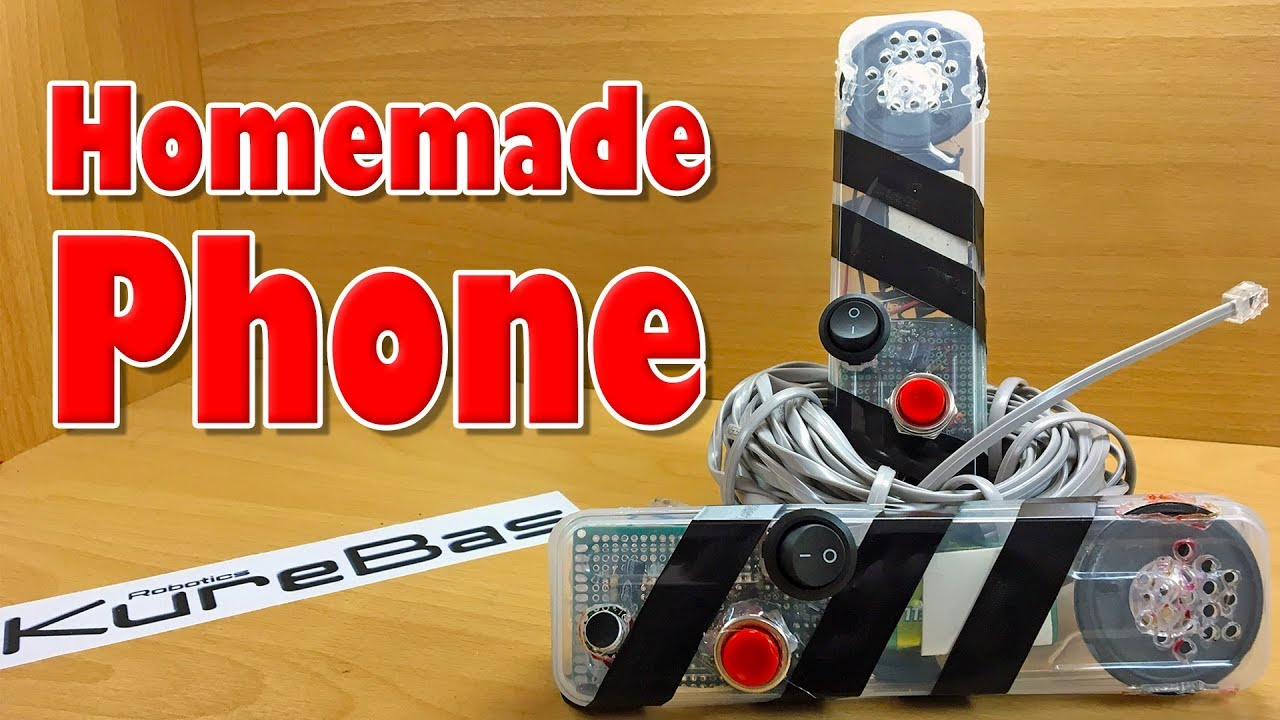 Homemade Phone With Electronic Circuits How To Make Schema Diy Circuit Project