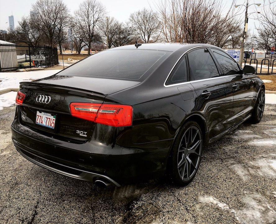 audi a6 extreme spoiler install review youtube
