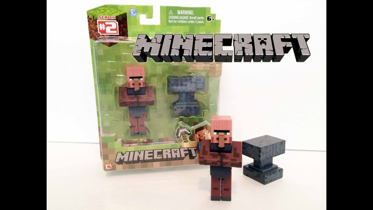 Toy R Us Toy Herobrine : Mincraft village collector toy unboxxing series youtube