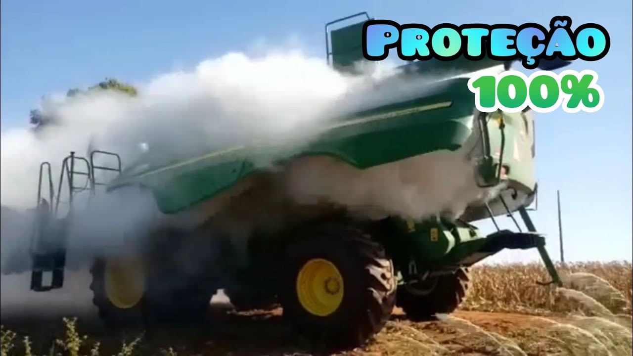 SISTEMA ANTI-INCÊNDIO PARA MAQUINAS AGRICOLAS || DISPARAMOS ELE DE PROPOSITO!!😱