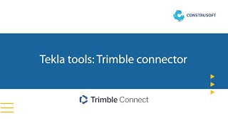Tekla tools voor Trimble Connect: Trimble connector