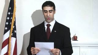 Arvin Vohra Speech on Gay Marriage vs. Civil Union