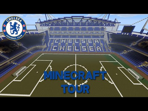 minecraft football stadium stamford bridge (chelsea tour)