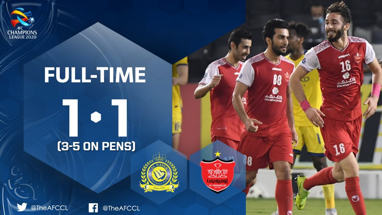 Acl Al Nassr Ksa 1 1 Persepolis Fc Irn Highlights Youtube