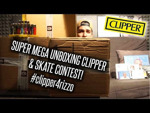 SUPER MEGA UNBOXING CLIPPER & SKATE CONTEST! #clipper4rizzo