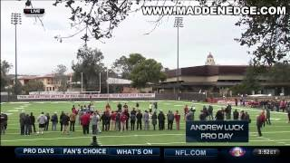 Andrew Luck Dominates At His Pro Day(75 Yard Bomb)Next Great Qb? Full Work Out!