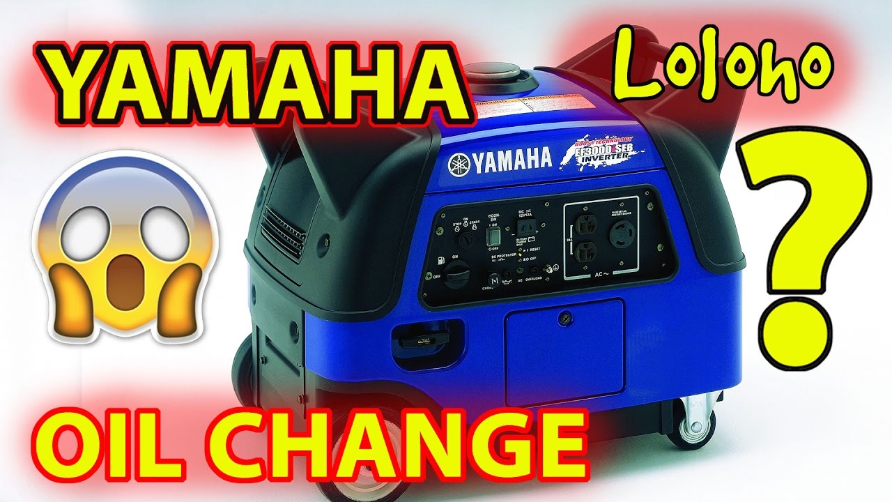 Yamaha Ef3000iseb Generator Oil Change Youtube