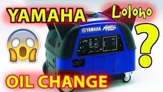 Yamaha EF3000iSEB Generator Oil Change