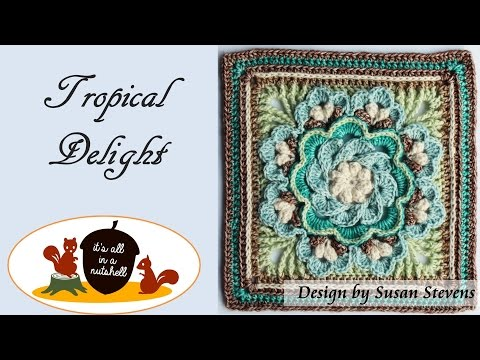 Tropical Delight - Crochet Square