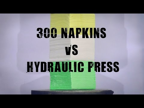 Thumbnail: 300 Napkins vs 500 Ton Hydraulic Press