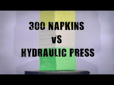 300 Napkins vs 500 Ton Hydraulic Press